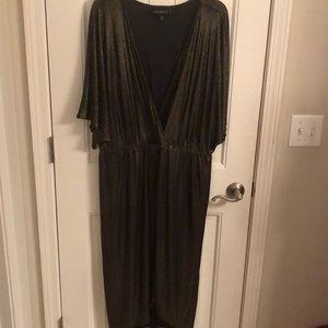 Lane Bryant Bronze Metallic Dress